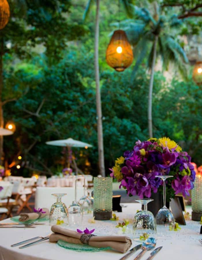 iluminacao decoracao de mesa tailandesa