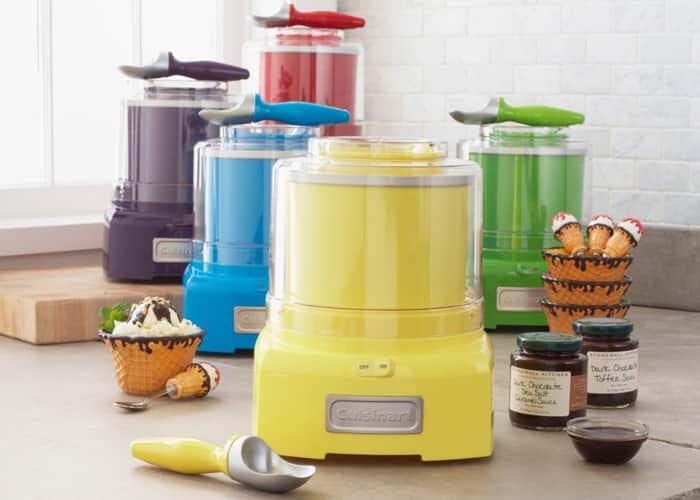 maquina-de-sorvete-cuisinart-modelos-coloridos